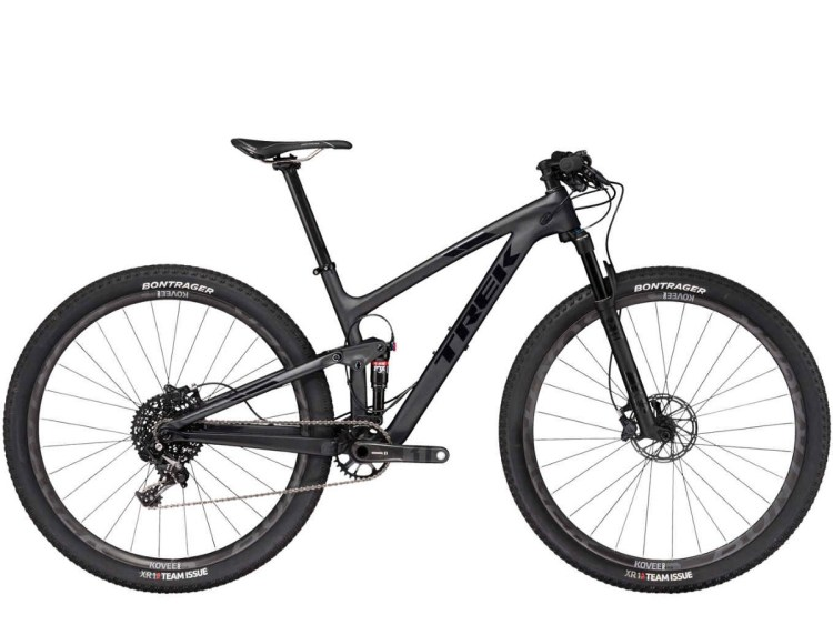 bicicleta moutain bike modelo suspensão total da marca trek