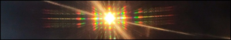 A phone screen can act as a diffraction grating, splitting incoming light into a series of spectra.