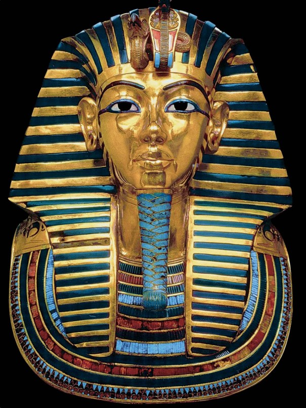 The most magnificent treasure of all—the pharaoh's burial mask.