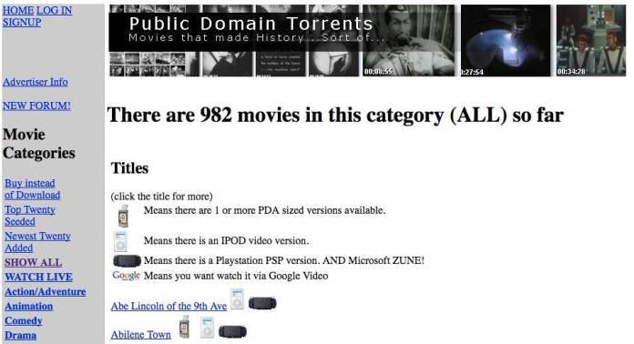 Image result for 8. PublicDomainTorrents