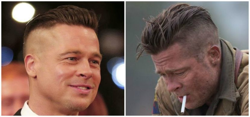 How To Get Brad Pitts Fury Hairstyle Pompadour Hair Cut