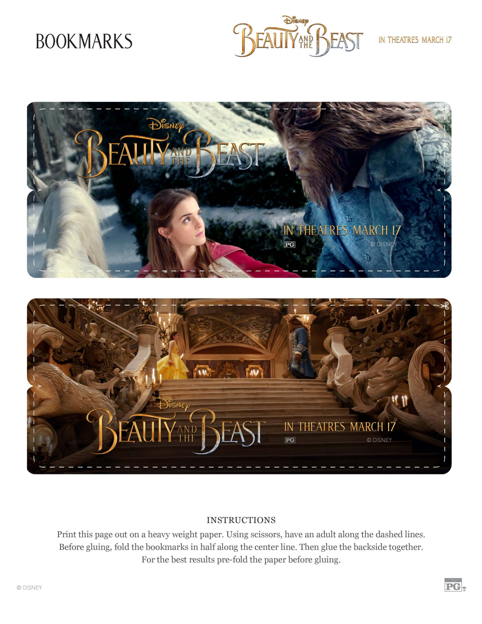 Free Beauty And The Beast Activity Sheets Modern