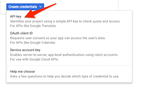 API Key…
