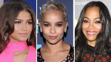 (Left to Right) Zendaya Coleman; Zoe Kravitz; Zoe Saldana