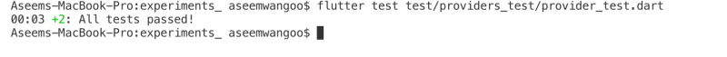 Testing provider in Flutter