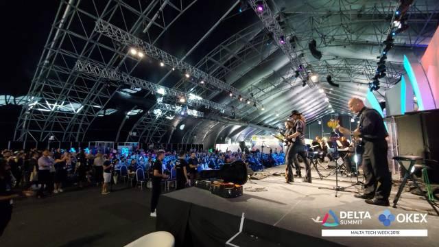 DELTA Summit OKEx Malta Tech Week—Holographic live music performance