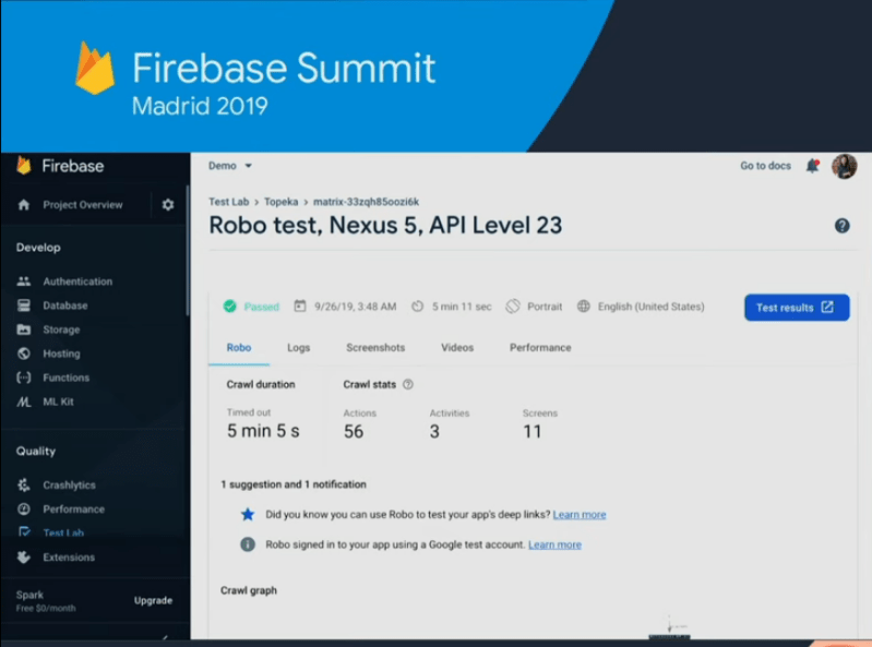 What's New in Firebase 2019….(Firebase Test Lab)…