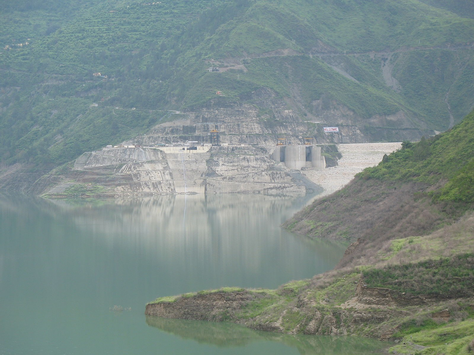 The Tehri Dam in Uttarakhand. Opposition to the Dam formed a focal point of Sunderlal Bahuguna's activism. Image credit: Jeewannegi, CC BY-SA 3.0 <https://creativecommons.org/licenses/by-sa/3.0>, via Wikimedia Commons