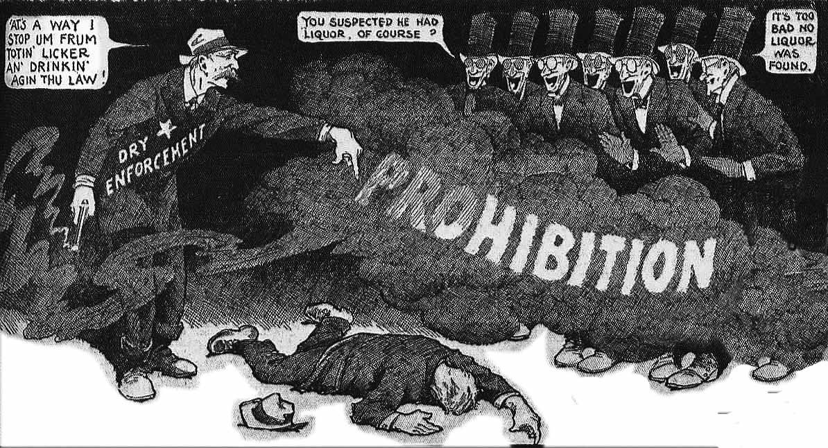 Prohibition Cartoons     Andrew Ward     Medium Opponents like cartoonist Winson McKay denounced the fearful bloodshed  Prohibition was fostering  including deaths at the hands of enforcement  itself