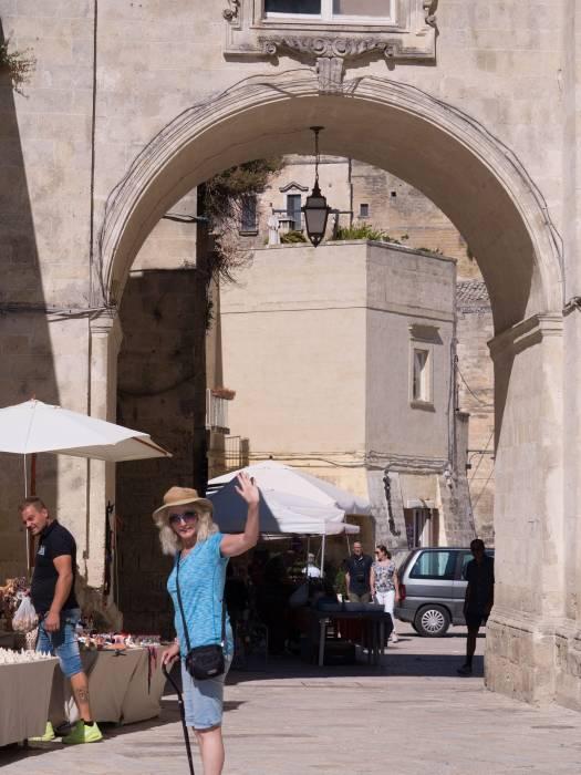 Street shops in Matera