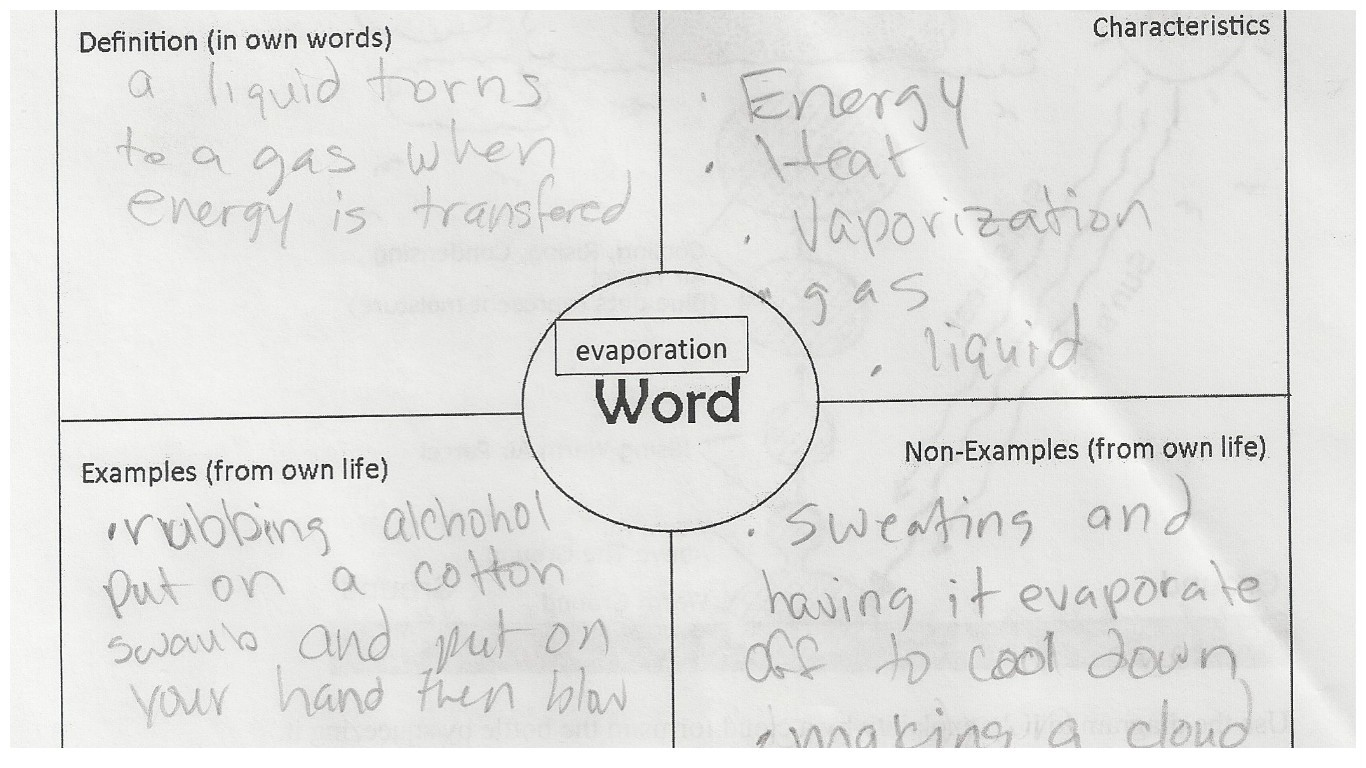 Building Student Vocabulary In A High School Science Class