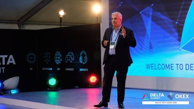 DELTA Summit OKEx Malta Tech Week—Enzo Villani, OKEx's Head of International Strategy and Innovation, at Evening Launch