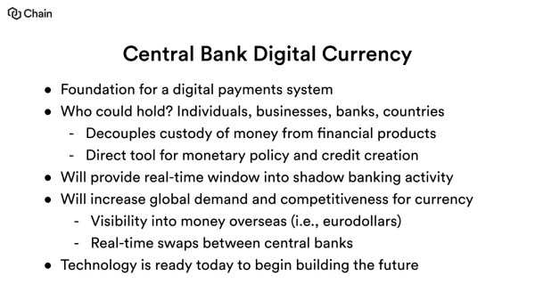 Why Central Banks Will Issue Digital Currency – Chain