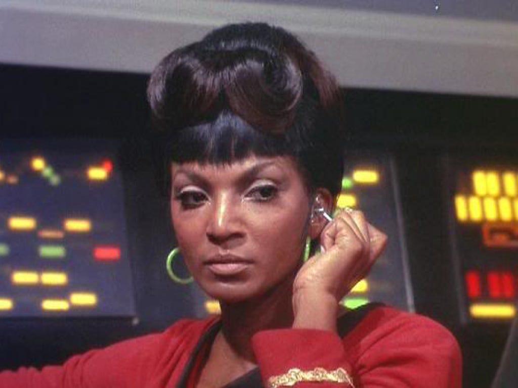Nichelle Nichols as Lt. Uhura in Star Trek: The Originals Series (1966).