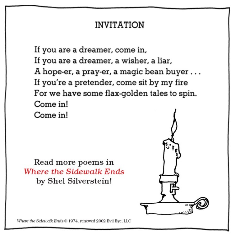 Image result for shel silverstein poems