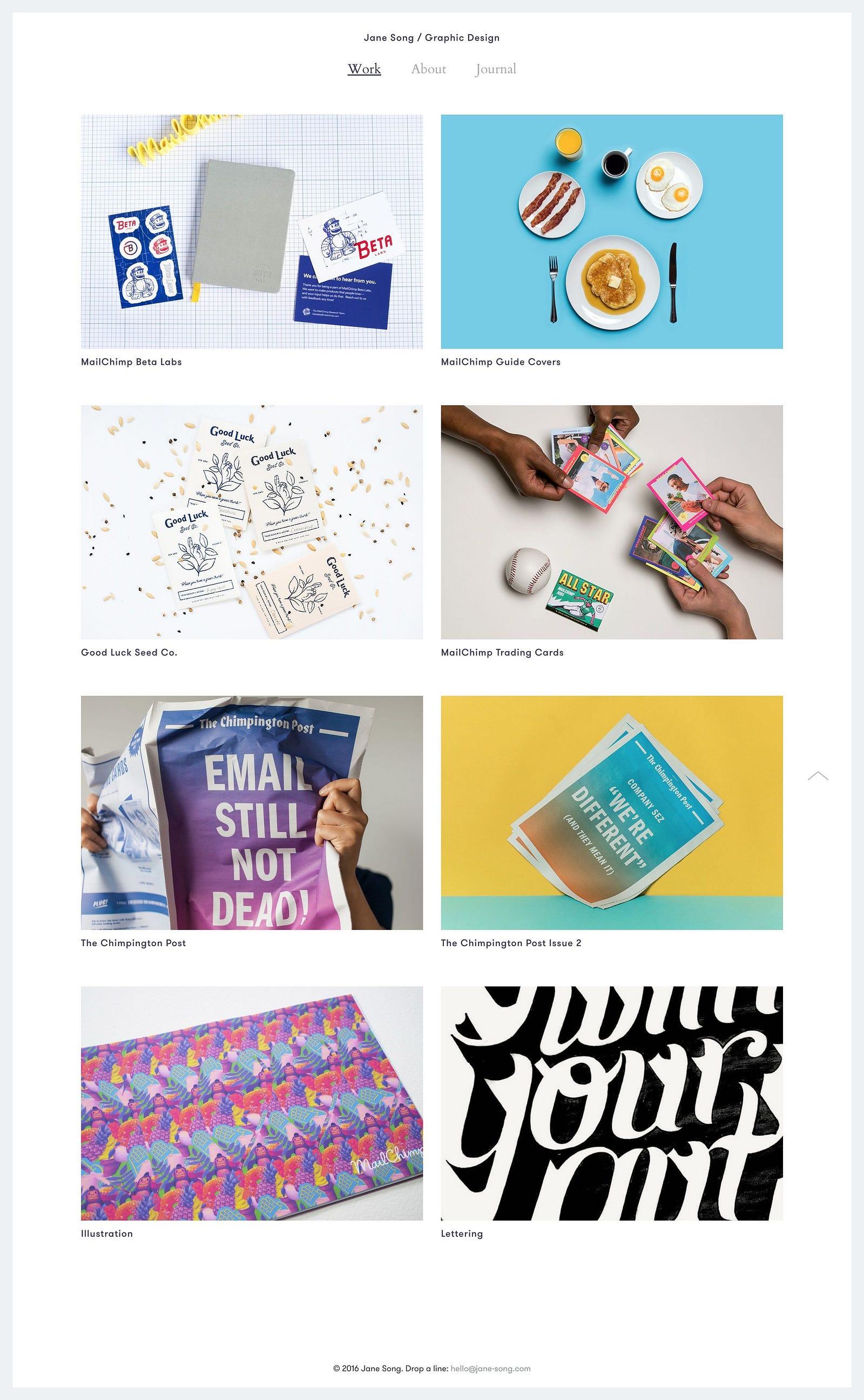 7 Stunning Graphic Design Portfolios From Award Winning