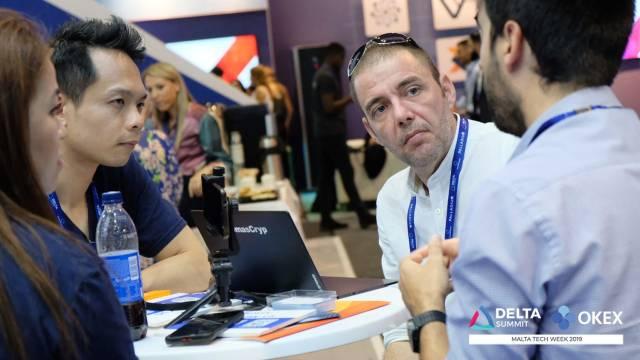 DELTA Summit OKEx Malta Tech Week—Lennix Lai, OKEx's Financial Market Director, being interviewed by media