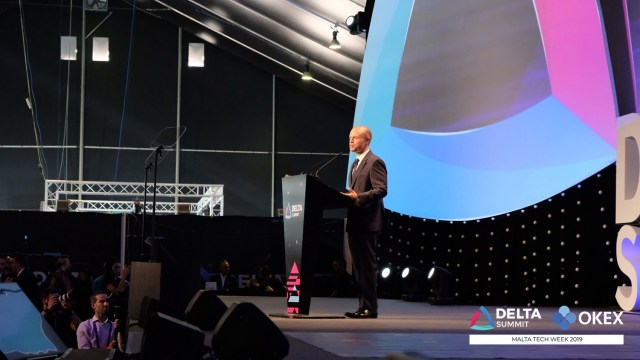 DELTA Summit OKEx Malta Tech Week—Joseph Muscat, Prime Minister of Malta, at the opening of DELTA Summit Day 1
