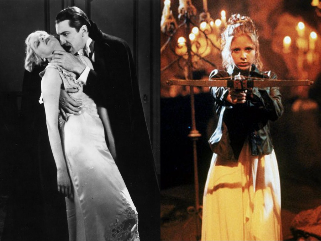Left: Dracula (1931). Right: Buffy the Vampire Slayer (1997).