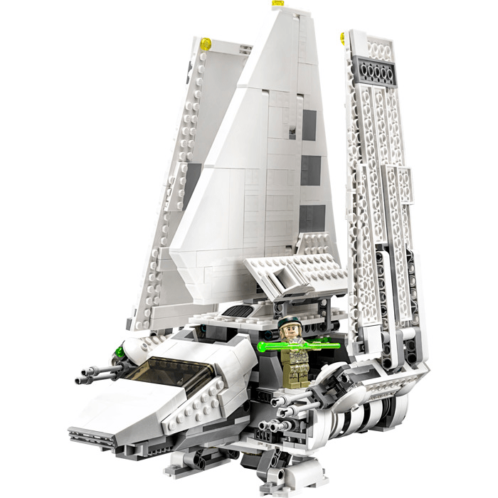 Do you want to start your own LEGO Star Wars collection  This LEGO set is the    cheaper    version of the UCS Imperial Shuttle  10212    a set with extreme attention to detail  but already discontinued and quite