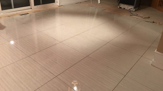 Photo of our kitchen floor during our renovation.