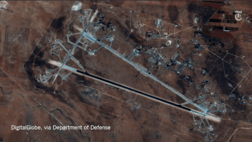 Syrian Airbase targeted by US missile strike