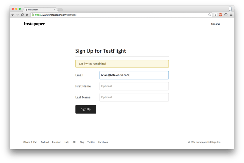 I Ve Put The Code Up On Github In Case You Re Interested Playing With It Or Scaffolding Your Own Testflight Invite Page