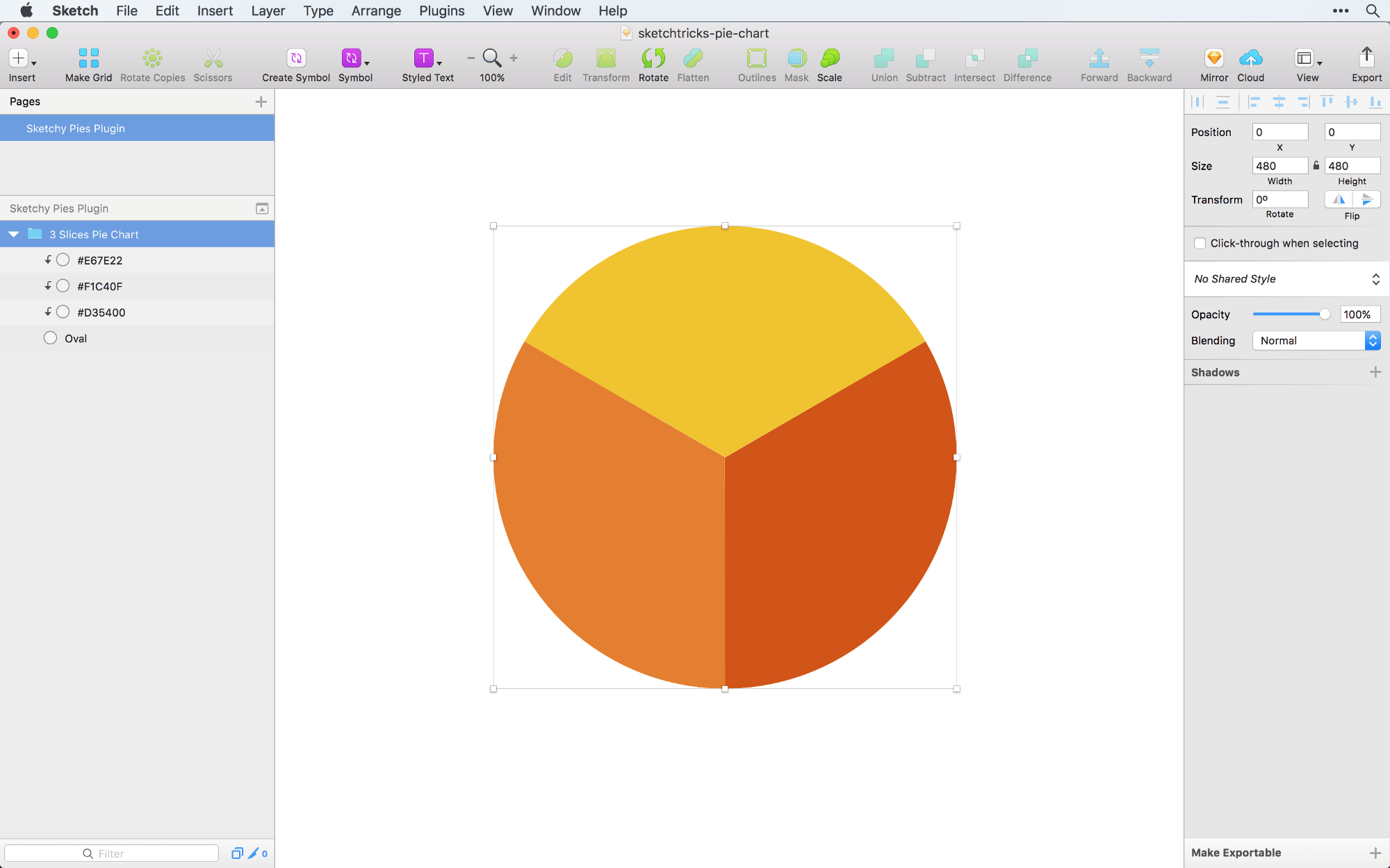 Creating A Pie Chart In Sketch The Right Way Sketch