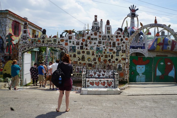 Cuba Unusual Museum Image: The entryway of this museum is full of colourful tiles and murals too numerous and diverse to describe one by one. It's a smorgasbord of colour.