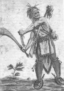 18th Century Illustration of an Iroquois Warrior