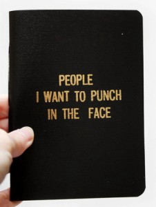 people in the face