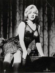 Vestido que Marilyn Monroe usou em Quanto mais quente melhor.