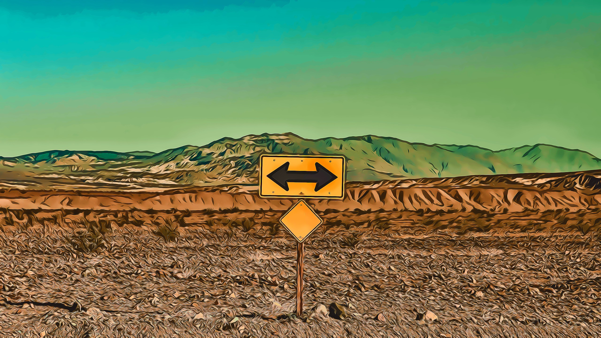 Sign in the desert