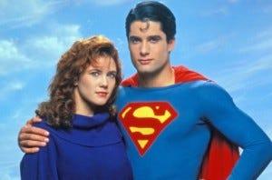 Gerard Christopher e Stacy Haiduk, interpretavam o Superboyu e Lana Lang na série do final dos anos 80.