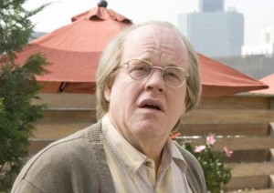 "Hoffman as Caden Cotard in ""Synecdoche, New York"""