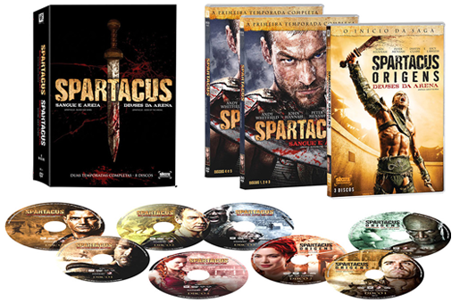 DVD Spartacus 1 e 2