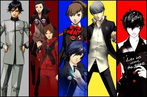 Os protagonistas dos jogos principais da série