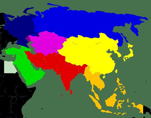 asya bölgeler haritası