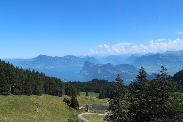 The staggering view from the sloped of Mount Pilatus.