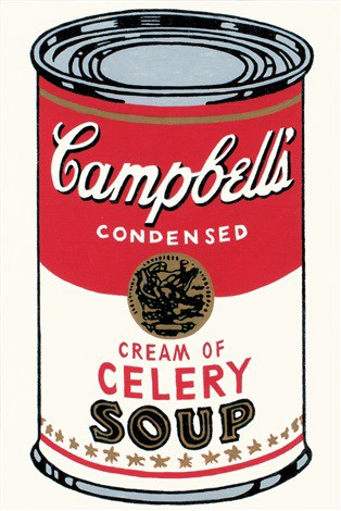 Andy Warhol print of can of Campbell's cream of celery soup