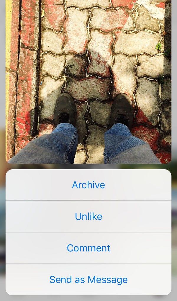 Cara archive foto pada Instagram