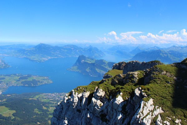 Mount Pilatus forms the most Northern part of the Alps, and is a fold mountain formed from colliding sedimentary rock.