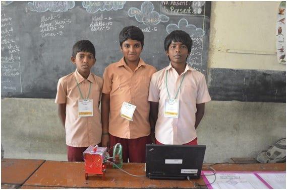 The team'Varutha padadha roboticsangam'