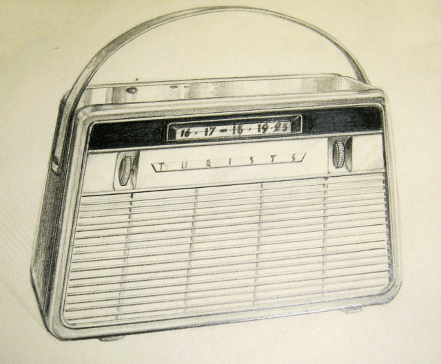 "The first sketch of the ""Spidola"" radio"