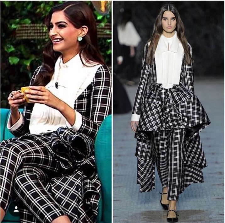 sonam kapoor koffee with karan look