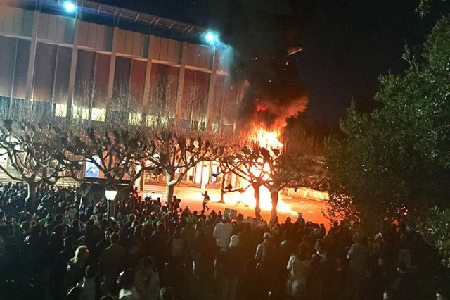 Image result for picture of antifa at berkeley
