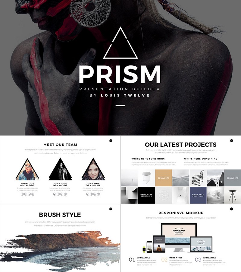 Prism — Minimal Style PowerPoint Template Builder Set