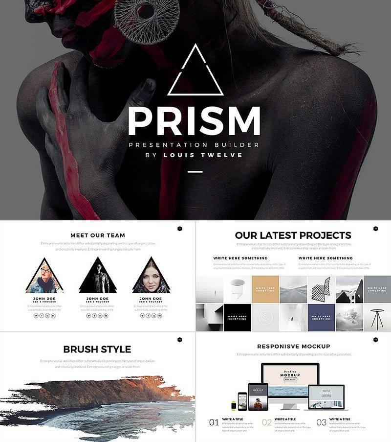 Prism—Minimal Style PowerPoint Template BuilderSet