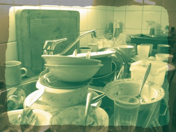 dirty dishes of the starving soul