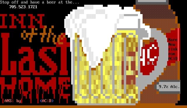 ANSI Art da ACiD, muito usadas em BBS